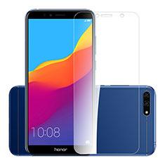 Huawei Y6 Prime (2018)用強化ガラス 液晶保護フィルム T01 ファーウェイ クリア