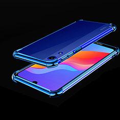 Huawei Y6 Prime (2019)用極薄ソフトケース シリコンケース 耐衝撃 全面保護 クリア透明 H01 ファーウェイ ネイビー