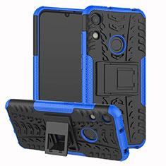 Huawei Y6 Prime (2019)用ハイブリットバンパーケース スタンド プラスチック 兼シリコーン カバー Z01 ファーウェイ ネイビー