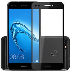 Huawei Y6 Pro (2017)用強化ガラス フル液晶保護フィルム ファーウェイ ブラック