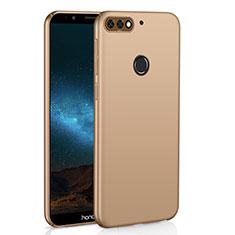 Huawei Y7 (2018)用ハードケース プラスチック 質感もマット M01 ファーウェイ ゴールド