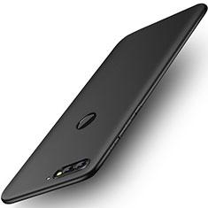 Huawei Y7 (2018)用ハードケース プラスチック 質感もマット ファーウェイ ブラック