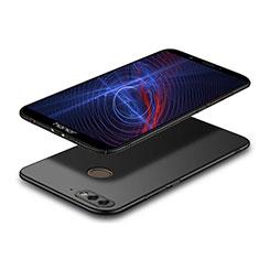 Huawei Y7 (2018)用ハードケース プラスチック 質感もマット M04 ファーウェイ ブラック