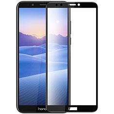 Huawei Y7 (2018)用強化ガラス フル液晶保護フィルム F07 ファーウェイ ブラック