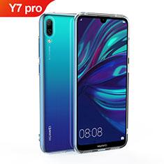 Huawei Y7 (2019)用極薄ソフトケース シリコンケース 耐衝撃 全面保護 クリア透明 カバー ファーウェイ クリア