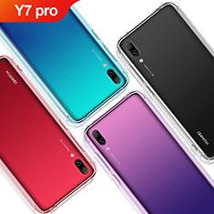 Huawei Y7 (2019)用極薄ソフトケース シリコンケース 耐衝撃 全面保護 クリア透明 T02 ファーウェイ クリア