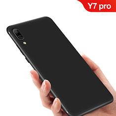 Huawei Y7 (2019)用極薄ソフトケース シリコンケース 耐衝撃 全面保護 ファーウェイ ブラック