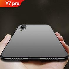 Huawei Y7 (2019)用ハードケース プラスチック 質感もマット ファーウェイ ブラック