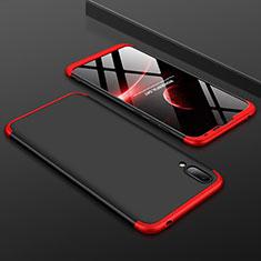 Huawei Y7 (2019)用ハードケース プラスチック 質感もマット 前面と背面 360度 フルカバー ファーウェイ レッド・ブラック