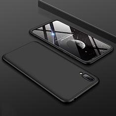Huawei Y7 (2019)用ハードケース プラスチック 質感もマット 前面と背面 360度 フルカバー ファーウェイ ブラック