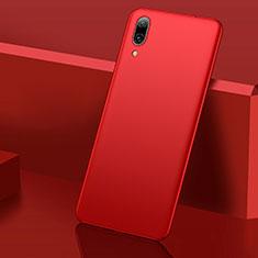 Huawei Y7 (2019)用ハードケース プラスチック 質感もマット M01 ファーウェイ レッド