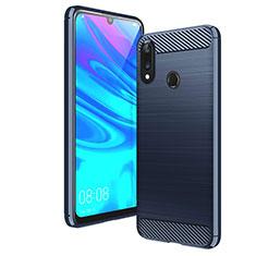 Huawei Y7 (2019)用シリコンケース ソフトタッチラバー ライン カバー ファーウェイ ネイビー