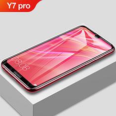 Huawei Y7 (2019)用強化ガラス フル液晶保護フィルム F02 ファーウェイ ブラック