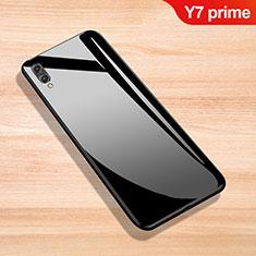 Huawei Y7 Prime (2019)用ハイブリットバンパーケース プラスチック 鏡面 カバー ファーウェイ ブラック