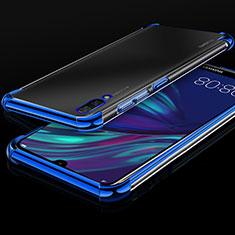 Huawei Y7 Prime (2019)用極薄ソフトケース シリコンケース 耐衝撃 全面保護 クリア透明 H01 ファーウェイ ネイビー