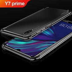 Huawei Y7 Prime (2019)用極薄ソフトケース シリコンケース 耐衝撃 全面保護 クリア透明 H01 ファーウェイ ブラック