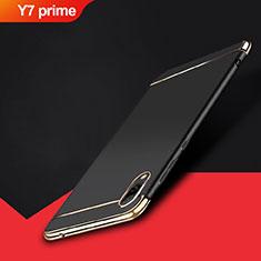 Huawei Y7 Prime (2019)用ケース 高級感 手触り良い メタル兼プラスチック バンパー M01 ファーウェイ ブラック