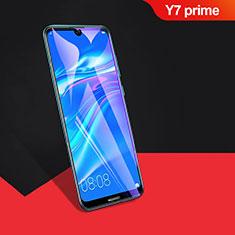Huawei Y7 Prime (2019)用強化ガラス フル液晶保護フィルム F04 ファーウェイ ブラック