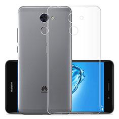 Huawei Y7 Prime用極薄ソフトケース シリコンケース 耐衝撃 全面保護 クリア透明 T01 ファーウェイ クリア