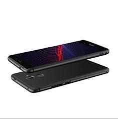 Huawei Y7 Prime用極薄ソフトケース シリコンケース 耐衝撃 全面保護 S04 ファーウェイ ブラック