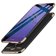 Huawei Y7 Prime用ケース 高級感 手触り良い メタル兼プラスチック バンパー ファーウェイ ブラック