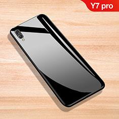 Huawei Y7 Pro (2019)用ハイブリットバンパーケース プラスチック 鏡面 カバー ファーウェイ ブラック
