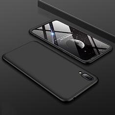 Huawei Y7 Pro (2019)用ハードケース プラスチック 質感もマット 前面と背面 360度 フルカバー ファーウェイ ブラック