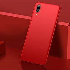 Huawei Y7 Pro (2019)用ハードケース プラスチック 質感もマット M01 ファーウェイ レッド