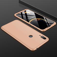 Huawei Y7 Pro (2019)用ハードケース プラスチック 質感もマット 前面と背面 360度 フルカバー M01 ファーウェイ ゴールド