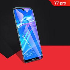 Huawei Y7 Pro (2019)用強化ガラス フル液晶保護フィルム F04 ファーウェイ ブラック
