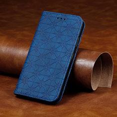 Huawei Y7p用手帳型 レザーケース スタンド カバー L17 ファーウェイ ネイビー