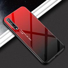 Huawei Y8p用ハイブリットバンパーケース プラスチック 鏡面 カバー ファーウェイ レッド