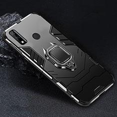 Huawei Y8s用ハイブリットバンパーケース プラスチック アンド指輪 マグネット式 ファーウェイ ブラック