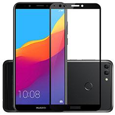 Huawei Y9 (2018)用強化ガラス フル液晶保護フィルム ファーウェイ ブラック
