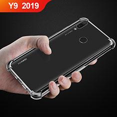 Huawei Y9 (2019)用極薄ソフトケース シリコンケース 耐衝撃 全面保護 クリア透明 カバー ファーウェイ クリア