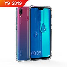 Huawei Y9 (2019)用極薄ソフトケース シリコンケース 耐衝撃 全面保護 クリア透明 T02 ファーウェイ クリア