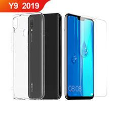 Huawei Y9 (2019)用極薄ソフトケース シリコンケース 耐衝撃 全面保護 クリア透明 アンド液晶保護フィルム ファーウェイ クリア