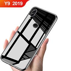 Huawei Y9 (2019)用極薄ソフトケース シリコンケース 耐衝撃 全面保護 クリア透明 T04 ファーウェイ クリア