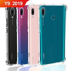 Huawei Y9 (2019)用極薄ソフトケース シリコンケース 耐衝撃 全面保護 クリア透明 T05 ファーウェイ クリア