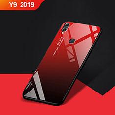 Huawei Y9 (2019)用シリコンケース ソフトタッチラバー 鏡面 ファーウェイ レッド