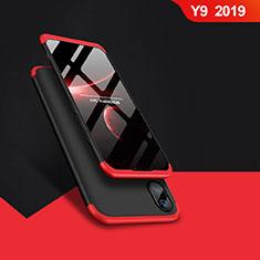 Huawei Y9 (2019)用ハードケース プラスチック 質感もマット 前面と背面 360度 フルカバー Q01 ファーウェイ レッド・ブラック
