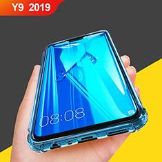 Huawei Y9 (2019)用極薄ソフトケース シリコンケース 耐衝撃 全面保護 クリア透明 T07 ファーウェイ ブルー