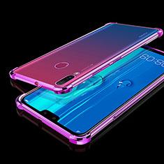 Huawei Y9 (2019)用極薄ソフトケース シリコンケース 耐衝撃 全面保護 クリア透明 H01 ファーウェイ パープル