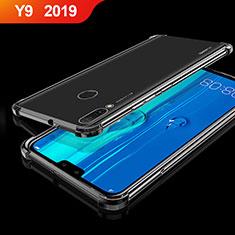 Huawei Y9 (2019)用極薄ソフトケース シリコンケース 耐衝撃 全面保護 クリア透明 H01 ファーウェイ ブラック