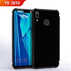 Huawei Y9 (2019)用極薄ソフトケース シリコンケース 耐衝撃 全面保護 クリア透明 S01 ファーウェイ ブラック