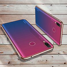 Huawei Y9 (2019)用極薄ソフトケース シリコンケース 耐衝撃 全面保護 クリア透明 H02 ファーウェイ ローズゴールド