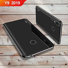 Huawei Y9 (2019)用極薄ソフトケース シリコンケース 耐衝撃 全面保護 クリア透明 H02 ファーウェイ ブラック