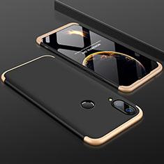 Huawei Y9 (2019)用ハードケース プラスチック 質感もマット 前面と背面 360度 フルカバー ファーウェイ ゴールド・ブラック