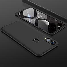Huawei Y9 (2019)用ハードケース プラスチック 質感もマット 前面と背面 360度 フルカバー ファーウェイ ブラック