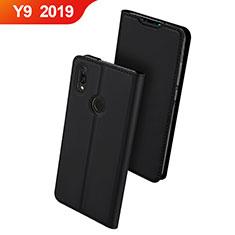 Huawei Y9 (2019)用手帳型 レザーケース スタンド カバー ファーウェイ ブラック